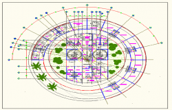 Clinic circle type design plan