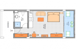 366sqrft Master bedroom Plan.