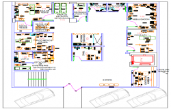 Hospital dwg, Small Hospital DWG file
