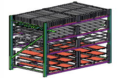 3D Common storage rack design drawing