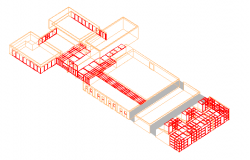 3D Design and Elevation of Bio Technology Center dwg file