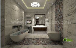 3D Design of Bathroom Elevation dwg file
