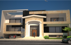 3D Design of One Family Housing Project dwg file