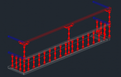 3D Design of Typical Balcony Elevation dwg file