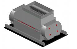 3D Electric Motor Model DWG File