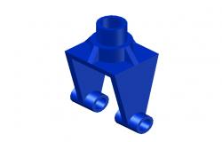 3D Hollow block making machine design