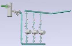 3D MODELof piping example boiler distribution design drawing