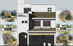 3D Modern House Sketchup Design With Render In Vray
