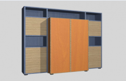 3D book case design drawing for used in saloon