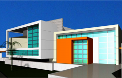 3D commercial building detail dwg file