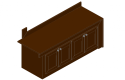 3D cub board elevation detail dwg file