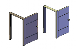 3D design doors drawing