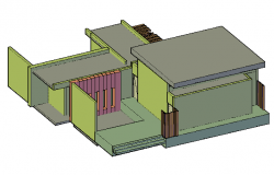 3D design drawing of Bungalow design