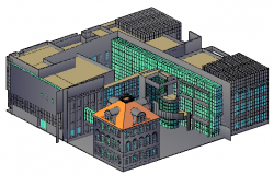 3D design drawing of Museum