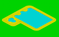 3D design drawing of Swimming pond design