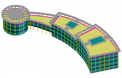 3D design drawing of activity Center design