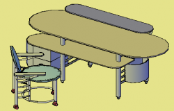 3D design drawing of office use table