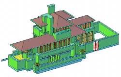 3D design drawing palace