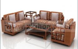3D design of living room design drawing