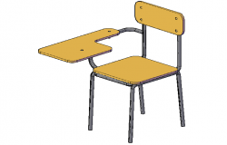 3D design view of desk chair  dwg file