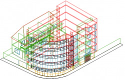 3D detail of bank dwg file