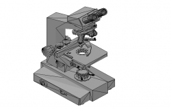 3D details of a microscope