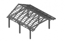 3D details of car port