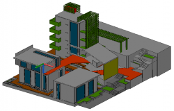 3D drawing of Housing design drawing