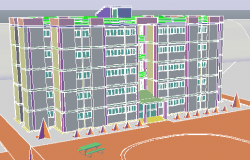 3D drawing of Residential Building design