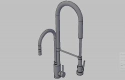 3D drawing of basin faucets in AutoCAD