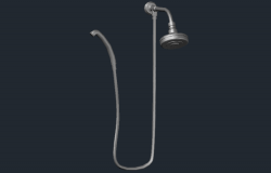 3D drawing of bathroom accessories