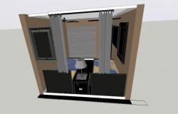 3D drawing of bedroom