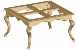 3D drawing of center table in AutoCAD