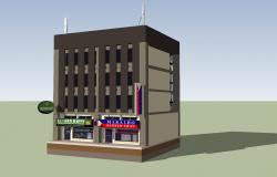 3D drawing of commercial building