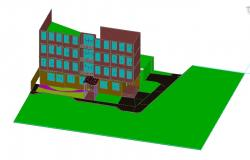 3D drawing of commercial building complex