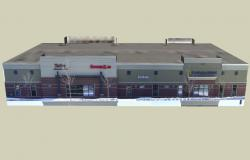 3D drawing of commercial building in sketchup