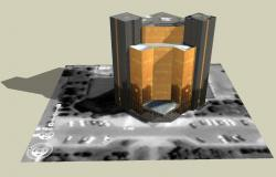3D drawing of corporate building
