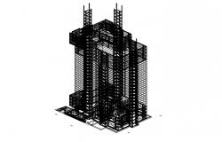 3D drawing of high rise building