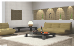 3D drawing of living area