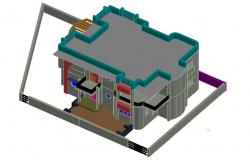 3D drawing of residential bungalow