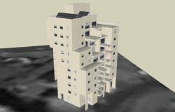 3D drawing of the apartment design in skp file