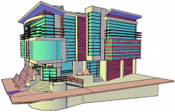 3D drawing of the clinic in autocad