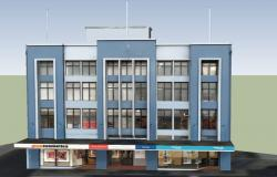 3D drawing of the commercial building in SketchUp