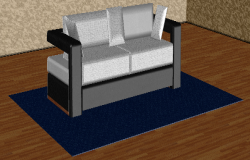 3D drawing of the sofa in dwg file