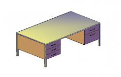 3D free standing table with metal material
