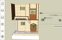 3D house bungalow Sketch up