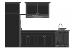 3D kitchen view detail dwg file