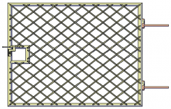 3D metal door Main gate design drawing
