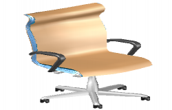 3D modern hair design block