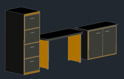 3D office furniture detail
